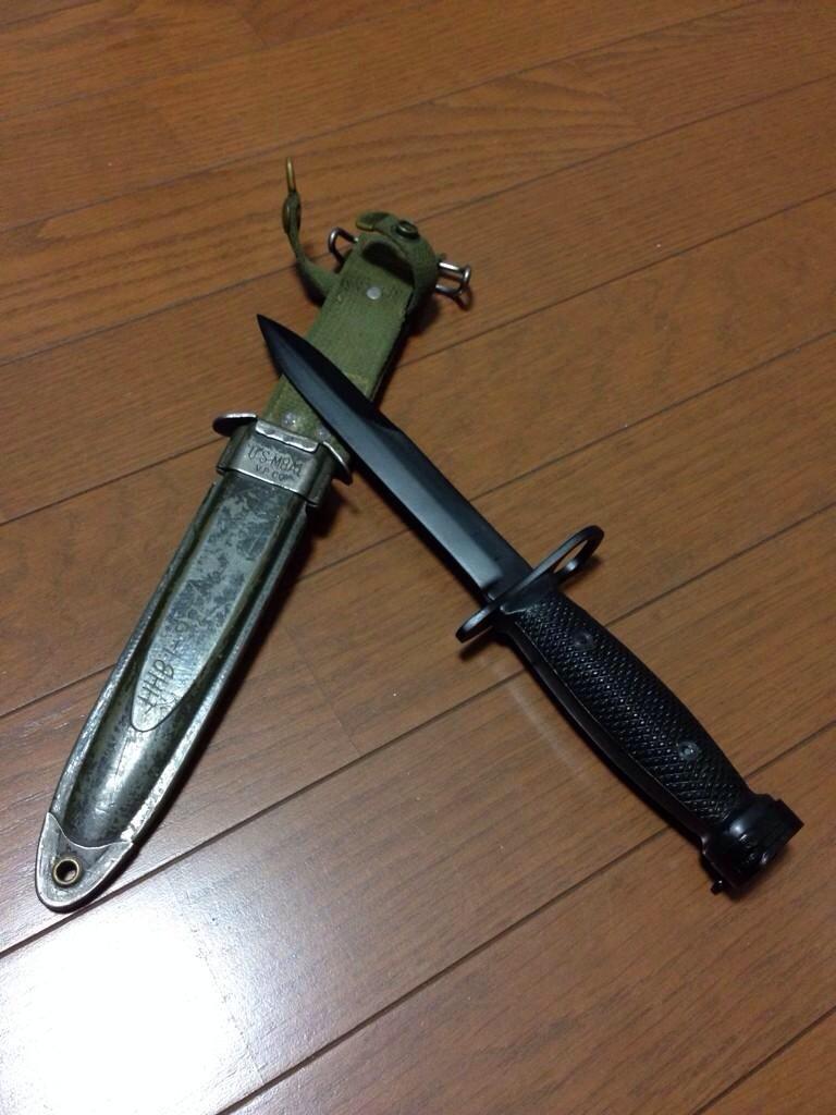 コットン好きな大学生のナム戦ブログ:M8A1スカバード&M7バヨネット