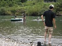 夏の終わりの川遊び&バーべキュー