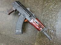 次世代AKS74U用ウッドハンドガードの完成!