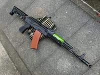 次世代AKS74U用ウッドハンドガードの製作!