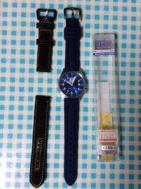 ブルーインパルスの腕時計のバンドを変えてみた