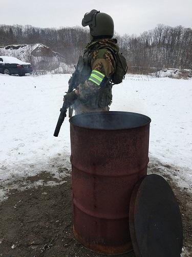 ロシア+ドラム缶