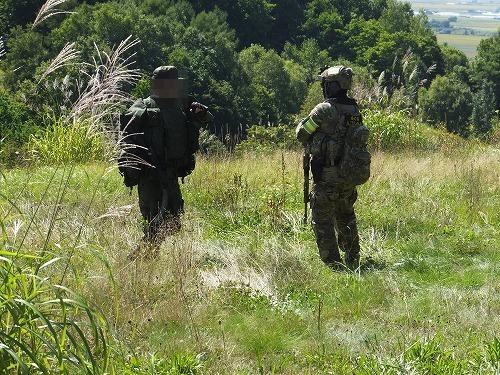 歩哨に立つロシア兵