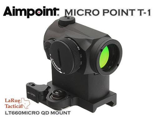 実物【Aimpoint】MICRO POINT T-1【LaRue】 LT660MICRO QDマウント付