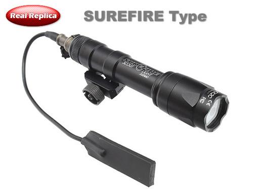 【SUREFIREタイプ】M600コンパクトライトレプリカ BK (プッシュスイッチ付)