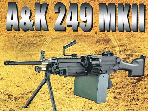 送料無料!!A&K社製 MINIMI ミニミ M249 MK-II(マーク2)電動ガン