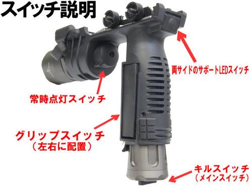 <br /> NEW Mil-Spec anodizing color!!【SUREFIREタイプ】M910バーティカルグリップライトレプリカ(SUREFIRE立体刻印)