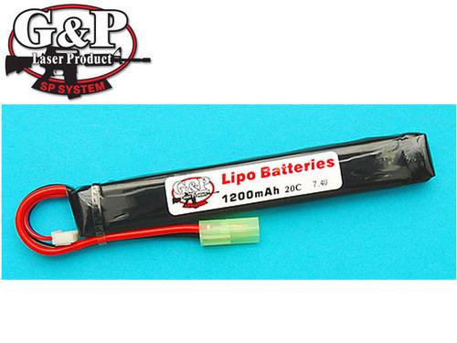 G&P製 GP863A 7.4V 1200mAh (20C) Li-Poly リチャージャブル・バッテリー(A)