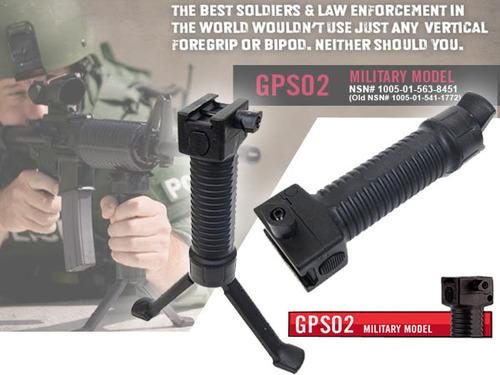 実物新品 【Grip Pod Systems】GPS02 MILITARY MODEL グリップバイポッド BK