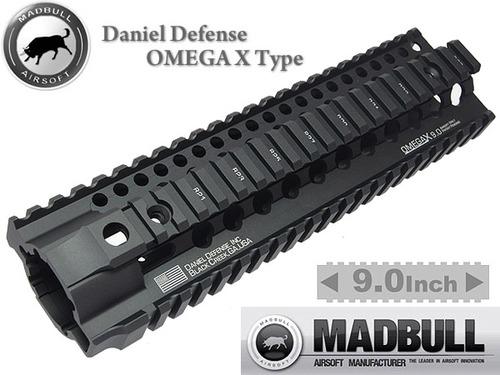 MADBULL製【Daniel Defenseタイプ】OMEGA X 9.0レイルハンドガード BK
