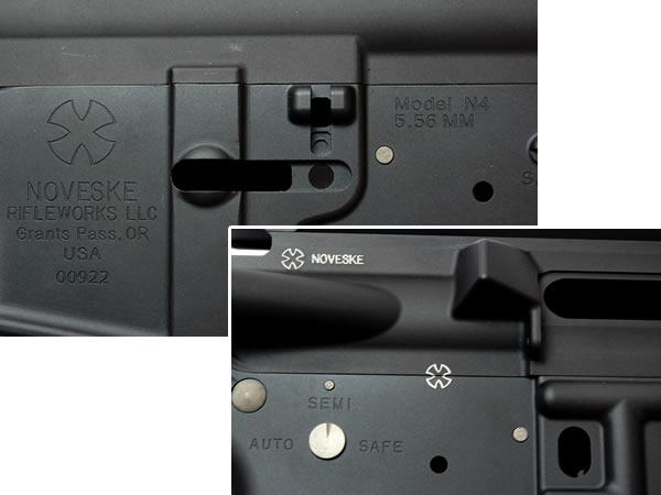 NOVESKEタイプ】 N4刻印 CNCメタルフレーム【東京マルイ次世代電動M4シリーズ専用