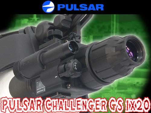 高性能暗視ゴーグル【実物PULSAR製】 Challenger GS 1x20 ナイトビジョン