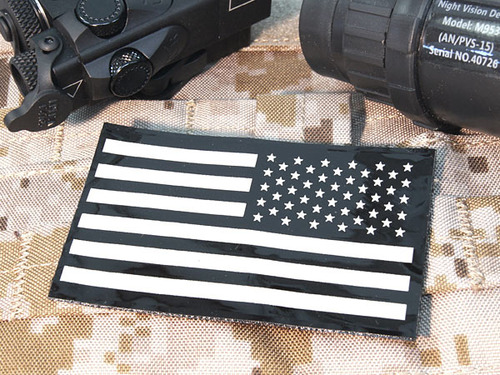 軍支給品 実物新品 IRアメリカンフラッグパッチ【リバース】 88×54mm