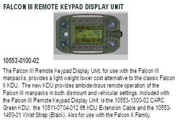 Falcon III Remote KDU