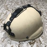 実物放出品 MSA MICH 2002ヘルメット タン wilcox NVGマウント付きのご紹介
