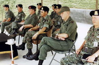 米陸軍特殊部隊群パッチ付きヌードルパターン迷彩ジャケット