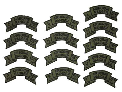 US 第75レンジャー歩兵連隊 サブデュード 中隊スクロールパッチ ナム戦モデル レプリカ新品【DM便可】