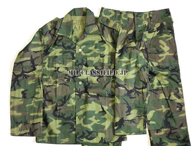 RVN 南ベトナム軍 M59 ERDL グリーンリーフ ノンリップ ジャケット・パンツセット レプリカ新品