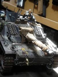 Ⅲ号戦車にもヒモ追加
