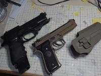 電動ハンドガン M93R ④ CQCホルスター製作!