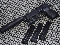 SⅡS 固定ガスガン M9ミリタリー ⑤ マガジン追加