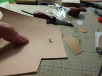 14年式拳銃嚢 紙箱収納部の改修 その2