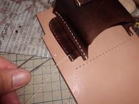 14年式拳銃嚢 紙箱収納部の改修 その3