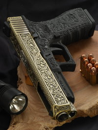 Glock G34 engraved