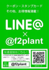 ★F2★お得な情報満載!LINE@f2plant開始!