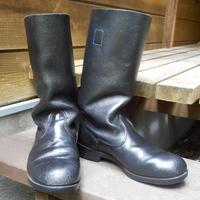 東ドイツ軍ブーツ補修。