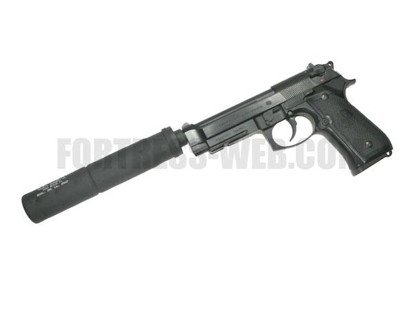 マルイ M9A1用 Gemtechタイプ サイレンサー対応アルミアウターバレル&ネジカバーセット(OB-TM05BK)