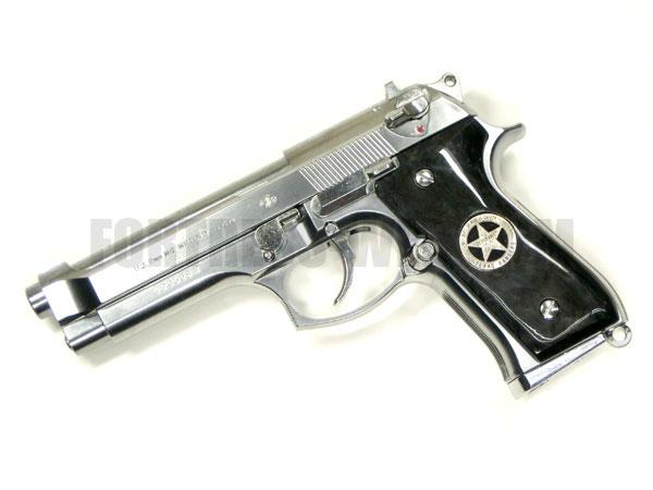 CAROM SHOT (キャロムショット): 東京マルイM92Fシリーズ用 テキサスレンジャーグリップ ブラックパール