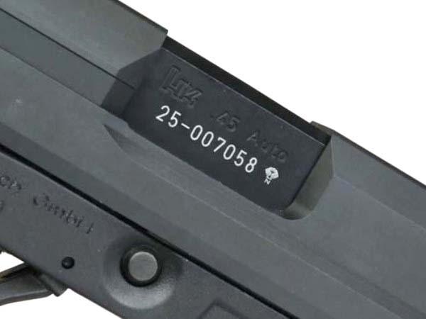 DETONATOR (デトネーター): KSC USP45用 カスタムスライド (BK)