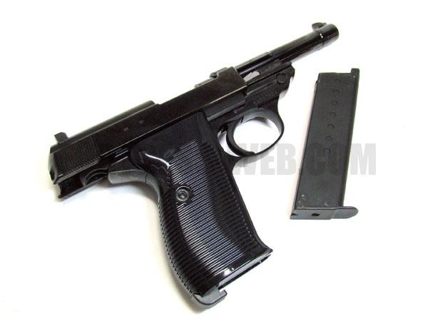 マルゼン: ガスブローバック ハンドガン ワルサーP38 ac40 ブラックメタル