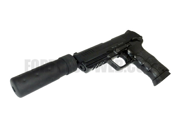 DETONATOR: KSC HK45用 サイレンサー対応アルミアウターバレル&ネジカバーセット(OB-KSC007)