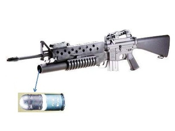 排莢式ブローバック』AR15/M16EBB with M203