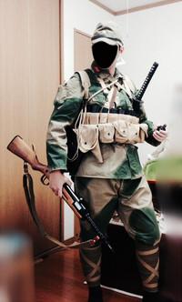 旧軍 義烈空挺隊風装備(機関短銃)
