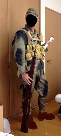 旧軍 義烈空挺隊風装備(小銃)