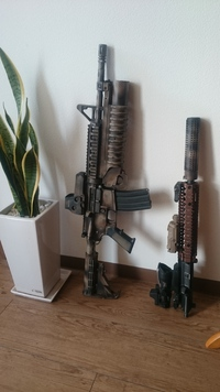 WE M4A1 GBB 塗装計画④