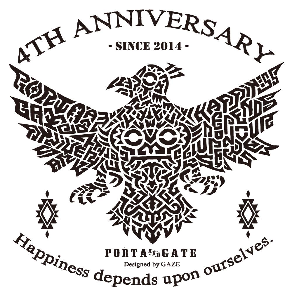 ポルタアンドゲート【PORTA AND GATE】3RD ANNIVERSARY T-SHIRTS(4周年記念Tシャツ)2018年、お祝い、周年祝い、コカコーラグラス、プレゼント02、アメカジ、ミリカジ、ミリタりー、沖縄,OKINAWA、お休み、定休日、アメリカン、感謝、コカコーラピーチ、ありがとう01