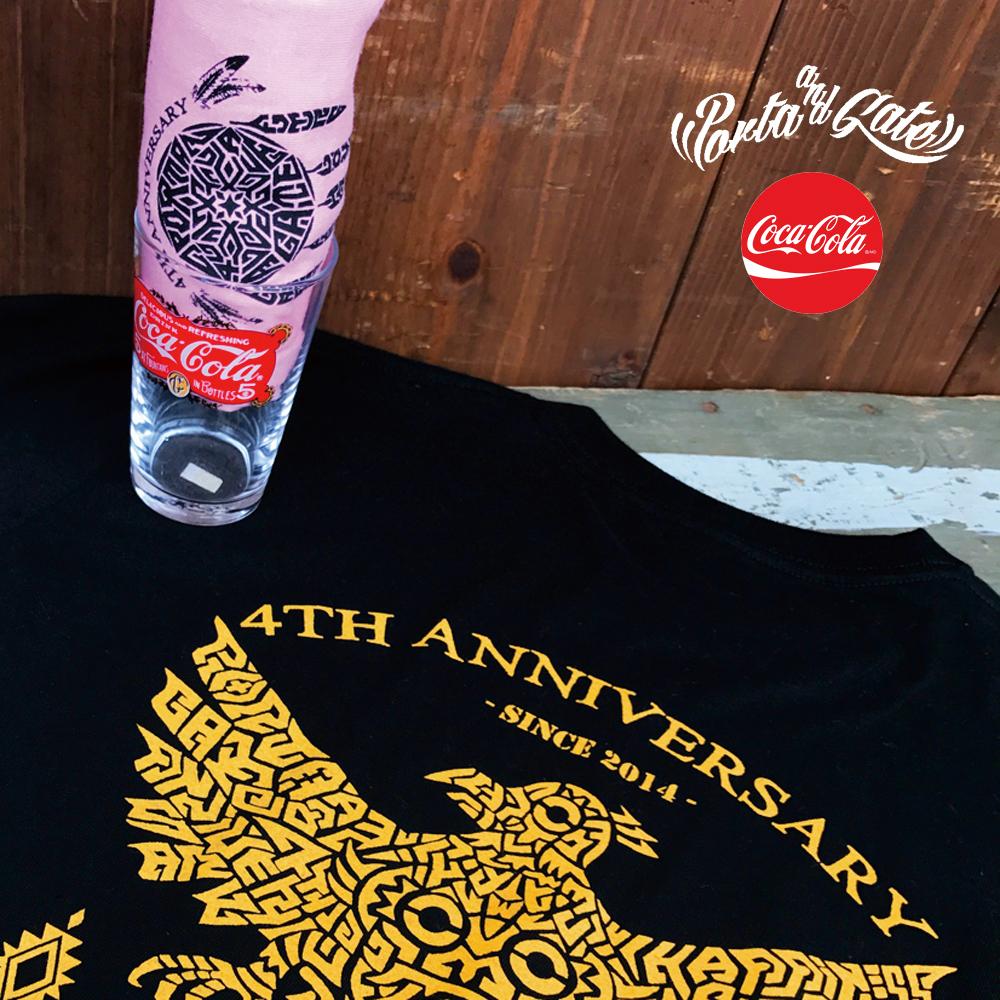 ポルタアンドゲート【PORTA AND GATE】3RD ANNIVERSARY T-SHIRTS(4周年記念Tシャツ)2018年、お祝い、周年祝い、コカコーラグラス、プレゼント05