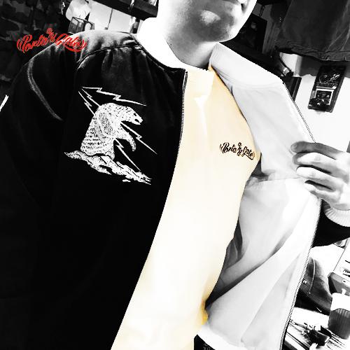 パブリックホリデー【PUBLIC.HLD】PORTAANDGATE 3/4SLEEVE BORDER T-SHIRT(ポルタアンドゲートオリジナルボーダー7分袖Tシャツ/バイカー)台風22号07