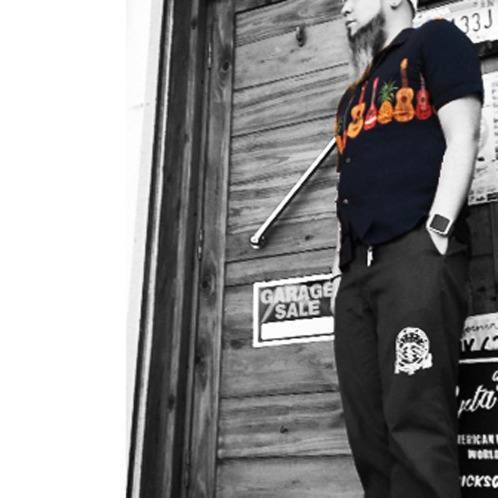ポルタアンドゲートPORTAANDGATEヒューストン【HOUSTON】BEER YELLOW ALOHA S/S SHIRT(ビールヴィンテージデザインレーヨンアロハ半袖シャツ)送料無料、ウクレレ、アメカジ、ミリカジ、ミリタリー