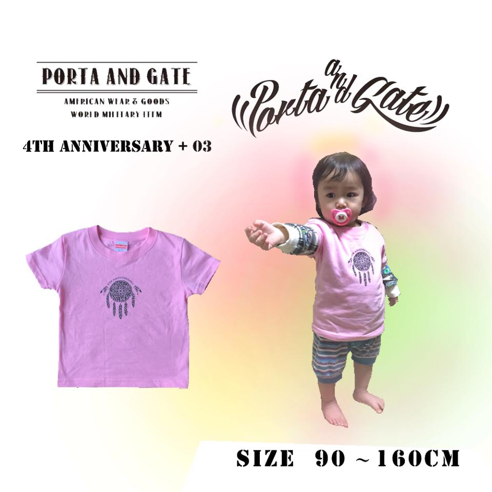 ポルタアンドゲート【PORTA AND GATE】3RD ANNIVERSARY T-SHIRTS(4周年記念Tシャツ)2018年、お祝い、周年祝い、コカコーラグラス、プレゼント03