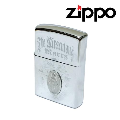 ジッポー【ZIPPO】IMPORT <br /> MEDAILLEMARIA / SKULL DESIGN / <br /> SILVER(メダルマリア/スカルデザイン<br /> シルバーカラー)ポルタアンドゲートPORTAANDGATE