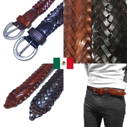 ポルタアンドゲートPORTAANDGATEMADE IN MEXICO MESH PATTERN LEATHER BELT(メッシュパターン/網目模様/バックル/レザーベルト/インポート/キューバシャツ/メキシコ製/GUAYABERA/キューバシャツ)04