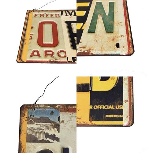 ポルタアンドゲートPORTAANDGATEUSA LICENSE PLATE DESIGN OPEN/CLOSED SIGN PLATE(アメリカナンバープレートデザインオープン/クローズ看板)03
