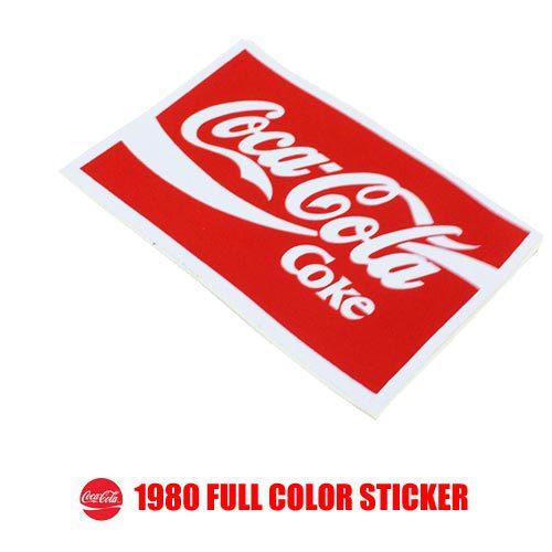 ポルタアンドゲートPORTAANDGATEコカコーラ【COCA-COLA】1980 FULL COLOR STICKER(1980年代限定USAコカコーラ限定フルカラーステッカー)