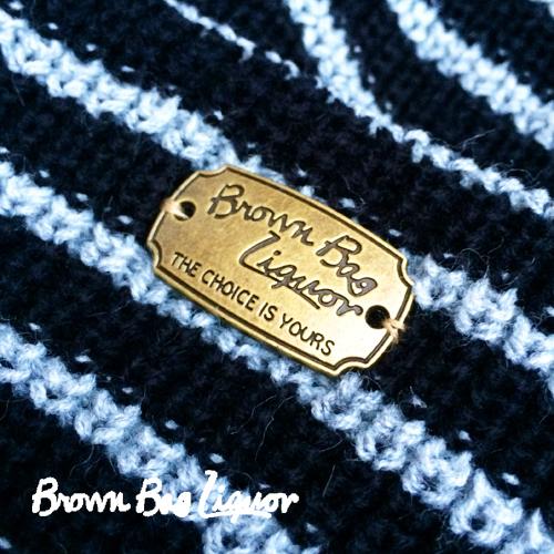 ブラウンバッグリカー【BROWNBAGLIQUOR】COTTON&ACRYL BORDER KNIT CAP (アクリル&コットンボーダーニットキャップ/折り返しニット帽)ポルタアンドゲートPORTAANDGATE
