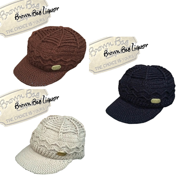 ブラウンバッグリカー【BROWNBAGLIQUOR】<br /> ACRYL KNIT JEEP CAP/JETCAP (アクリルジェットニットキャップ/ジープキャップ/折り返しニット帽)ポルタアンドゲートPORTAANDGATE